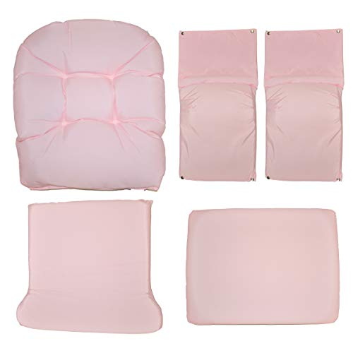 Storkcraft Hoop Glider and Ottoman Replacement Cushion Set- Stylish Cushion Replacement Set for Glider and Ottoman, 5 Pieces, Padded Arm Rests, Durable and Spot Cleanable (Pink Swirl)