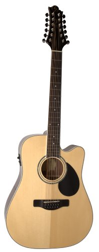 Samick Music G Series 100 GD112SCE Dreadnought 12-String Acoustic-Electric Guitar, Natural