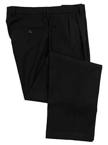 Ralph Lauren Mens Double Pleated Navy Blue Wool Dress Pants - Size 36 x30 (Pants Navy Dress Wool)