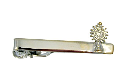 Religious Silver Toned Chalice Tie Clip for Boys, 1 1/2 Inch