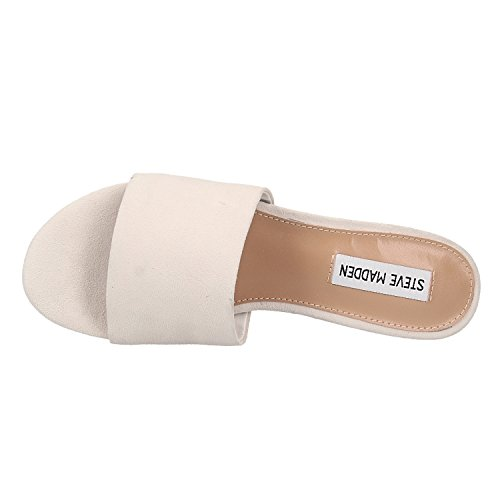 Steve Mule Blanc Sandals Suede Madden Red A6FxvwqAr