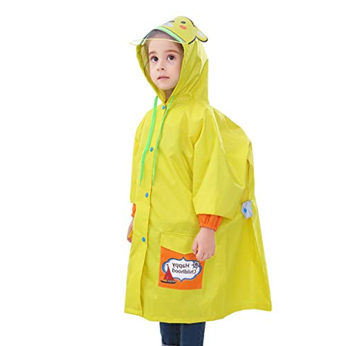 LYLIFE Raincoat Children's Raincoat Poncho Suit Age 4-12 Boys and Girls