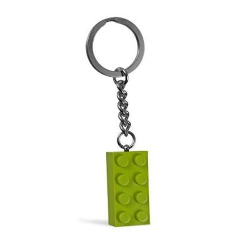 LEGO Lime Green Brick Key Chain