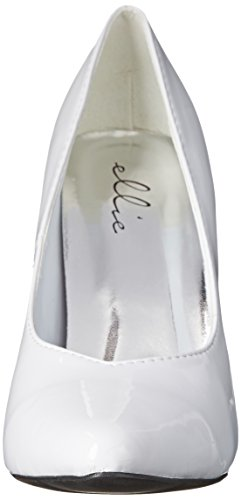 blanco Tacón de Mujer Patent White de Shoes Vestir 8220 para Ellie nbsp;Zapatos zOpFWAwSq