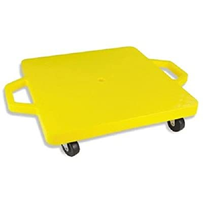 Champion Sports Standard Scooter Board with Handles, Assorted Colors (Yellow or Blue) : Roller Board : Sports & Outdoors