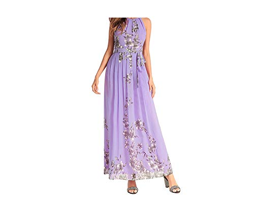 Sleeveless Chiffon Beach Long Dresses Boho Sexy Halter for sale  Delivered anywhere in USA