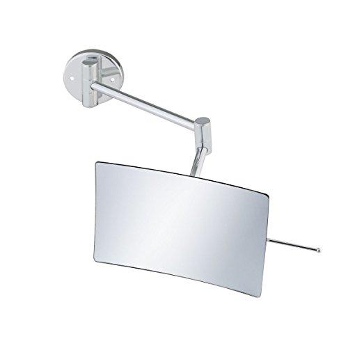 (Axentia Rectangular Wall Mirror Wall Mounting Bathroom Mirror Wall Bathroom Mirror Bathroom Make-up Cosmetics Mirror, Metal, Silver, 14x 19x 38cm)