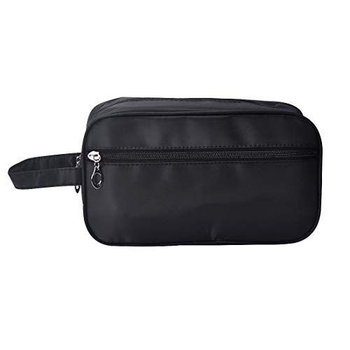 iSuperb Toiletry Bag Travel Organizer Classy Waterproof Portable Wash Gym Shaving Bag for Men 10x6x4inch(Black)