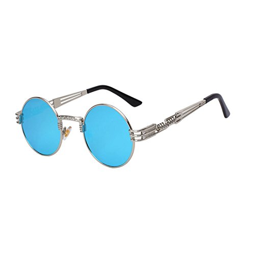 BRENTBROWN2 Men Women Metal WrapEyeglasses Round Shades Sunglasses - Sunglasses Desmond