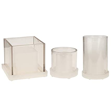 Amazon com: SODIAL 3Pcs Candle Cup Molds Dried Flowers