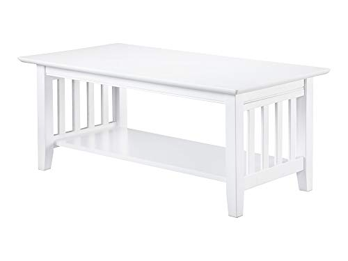 (Atlantic Furniture AH15202 Mission Coffee Table, White)