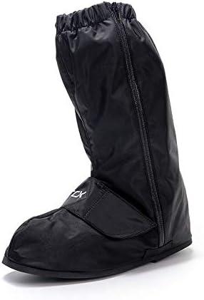 シューズカバー 安全警告バイクの靴は、靴は雨防水バイクの靴をカバーカバー 通勤 通学 自転車用 (Color : Black, Size : S)