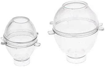 dailymall 2個の卵形のプラスチック製の透明なキャンドル型キャンドル作りモデルDIYキャンドル作り用品