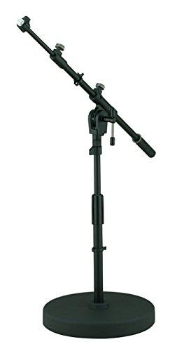 TAMA MS456RLBK Round Base Low Profile Telescoping Boom Stand - Low Profile Round Base