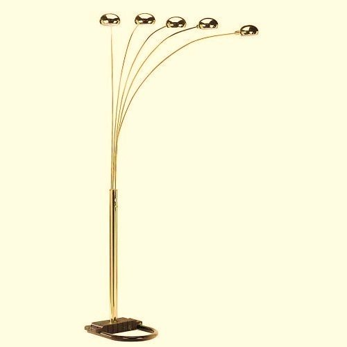 Modern style of 5 arm arch floor lamp gold amazon aloadofball Gallery