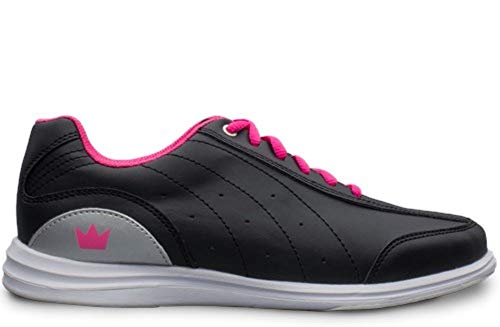 (Brunswick Ladies Mystic Bowling Shoes- Black/Pink 9)