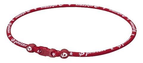 Phiten, Titanium Star Necklace, Maroon, 18-Inches - Titanium Sport Health Necklace