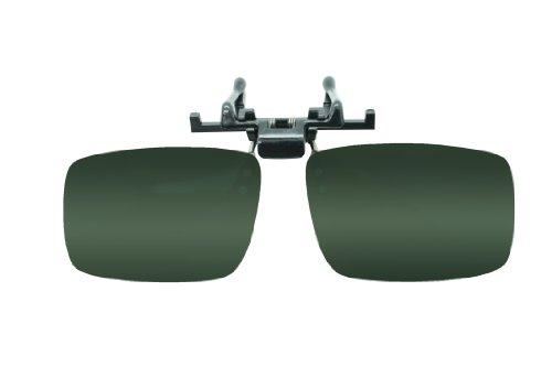 Flip up Clip on Sunglasses Polarized 56mm Green Lenses Ou...