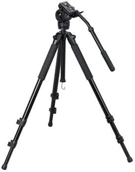 Tripod Head Large Size Color : Gold KANEED Heavy Duty Video Camera Tripod Action Fluid Drag Head with Sliding Plate for DSLR /& SLR Cameras Black