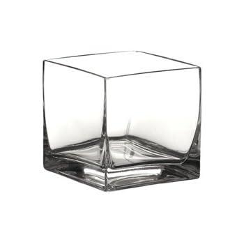Amazon Jlglass Square Clear Vase 4 Home Kitchen