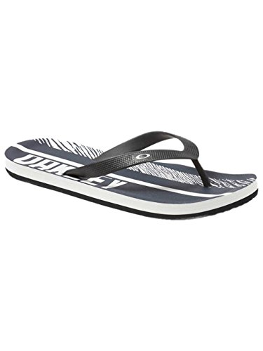 Oakley Mens Frogskin Sandal, Black/White, - Flip Oakley Flops Men For