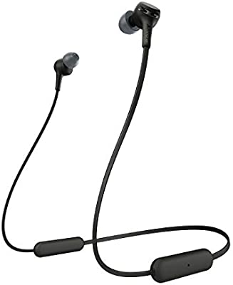 Amazon Com Sony Wi Xb400 Wireless In Ear Extra Bass Headset Headphones With Mic For Phone Call Black Electronics