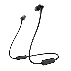 Sony WI-XB400 Wireless Bluetooth Extra Bass in-Ear Headphones with Mic, 15 Hours Battery Life, Quick Charge, Magnetic Earbuds, Tangle Free Cord and with 1 Year Warranty – Black