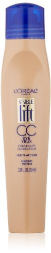 L'Oréal Paris Visible Lift CC Eye Concealer, Medium, 0.33 fl. oz.