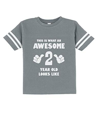 This is What an Awesome 2 Year Old Looks Like Funny Toddler Jersey T-Shirt 3T -