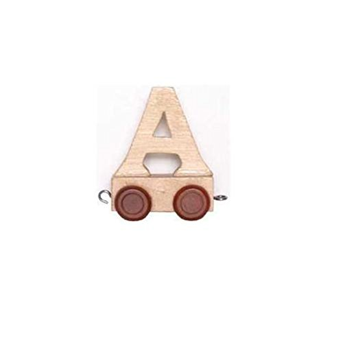 Childrens Personalised Wooden Alphabet Letter Train A-Z Name Set All Letters Available (LETTER R) Fun World Toys