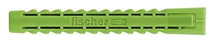 Fischer 524863 8 x 65 mm SX Expansion Plug - Zinc (45-Piece)