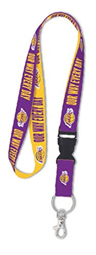 WinCraft Bundle 3 Items: Los Angeles LA Lakers 1 Badge Reel, 1 Lanyard, and 1 Stwrap Bag Id Tag by WinCraft (Image #2)