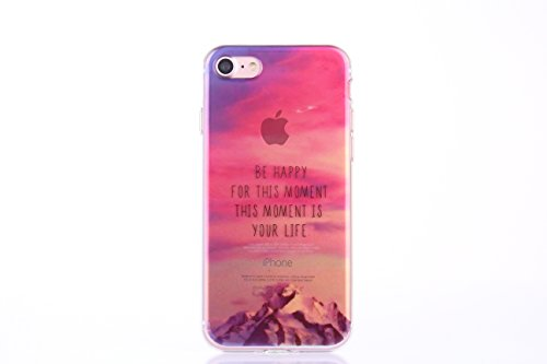 Meimeiwu Alta Qualità Trasparente TPU Landscape Cover Slim Fit custodia Case Cover per iPhone 6 Plus 6S Plus - Mountain(Be Happy)