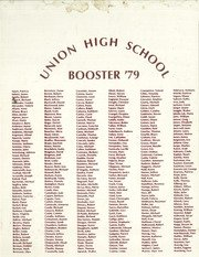 Union Booster - (Reprint) Yearbook: 1979 Union High School Booster Yearbook Union NJ