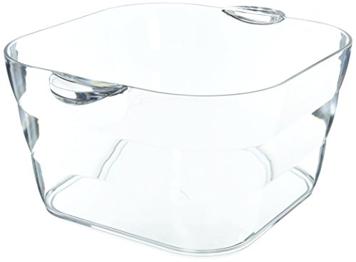 (Prodyne AB-18 Big Square Party Beverage Tub, Clear)