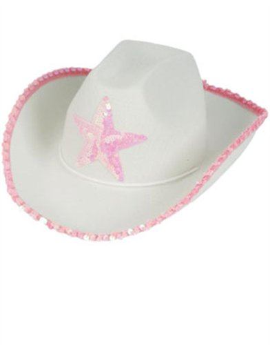 54fd831b2d240 Country Girls White Pink Cowboy Cow Boy Hat Sequin Star - Buy Online in  UAE.