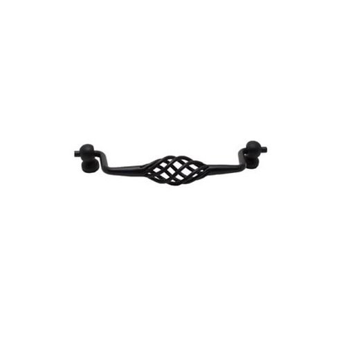128mm Birdcage Bail Pull (Berenson Provence Birdcage 128mm Center to Center Cabinet Pull, Black)