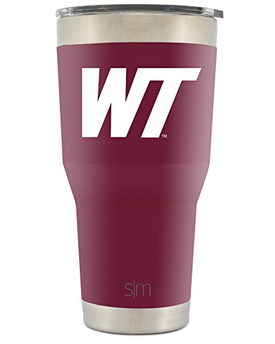 Simple Modern West Texas A&M University 30oz Cruiser Tumbler - WT State Vacuum Insulated Stainless Steel Travel Mug - WTAMU Buffaloes Tailgating Cup College Flask