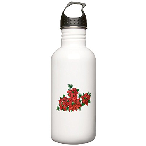 1l Outdoor Pole - Stainless Water Bottle 1.0L Christmas Poinsettias