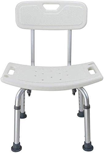 WYJW Duschstuhl Duschsitz, 8 höhenverstellbarer Badsitz mit Armlehnen und Rücken, Badehilfe für ältere Menschen...