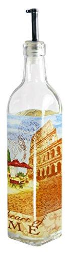 Grant Howard World Cafe Rome Oil & Vinegar Glass Cruet, 16 oz, Multicolored by Grant Howard