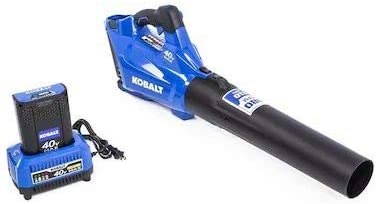 Kobalts 40-Volt Max Lithium Ion 480-CFM Cordless Electric Leaf Blower 3.0 ah Battery and Charger Included