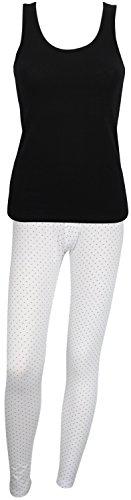 Ex Store - camiseta de algodón, set de pijama Black + Black Spot