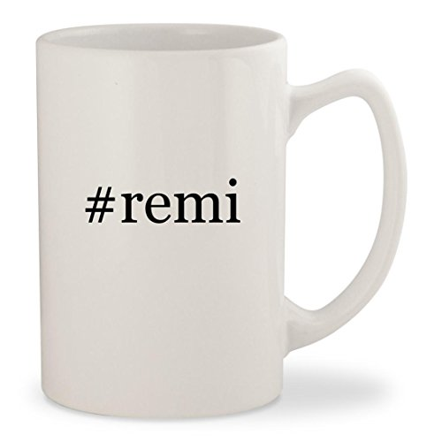 #remi - White Hashtag 14oz Ceramic Statesman Coffee Mug Cup (Cognac Remy Vsop Martin)