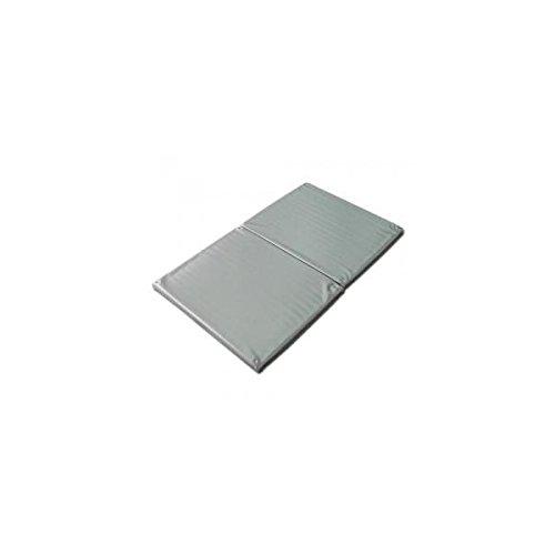 ヨックお風呂のマッサージ用マットP(2ツ折)シルバー 120×70cm│防水マッサージマット ポリエチレン製 B01563XLCY