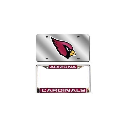 Arizona Cardinals Laser Cut License Plate and Frame Auto (Nfl Automotive Fan Kit)