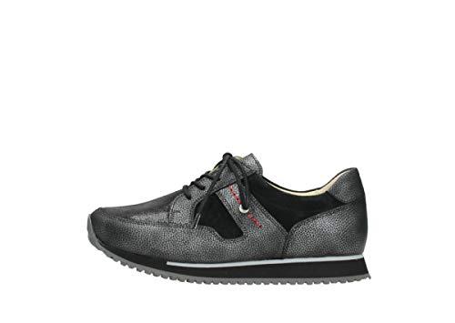 metallizzata walk pelle 84280 Wolky E in Stretch Sneakers Comfort scamosciata STxzqwPtHt