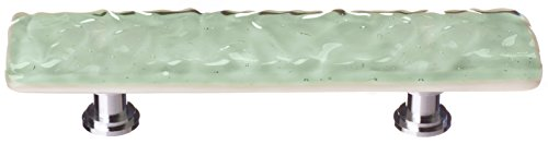 Sietto P-201-SN Glacier Pull with Satin Nickel Base, Spruce Green
