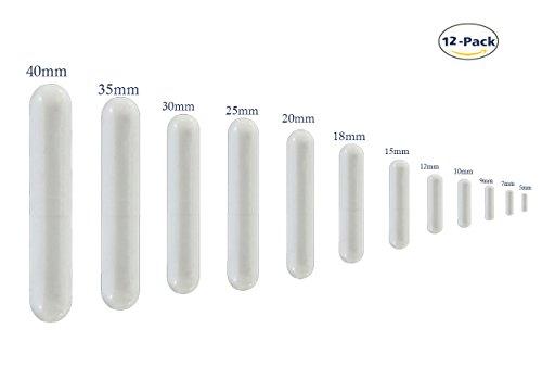 12pcs PTFE Magnetic Stirrer Mixer Stir Bar Spinbar White Color (Set Science Electromagnet)