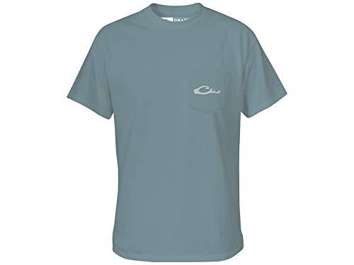 Drake Standing Black Lab Short Sleeve T-Shirt-Ice Blue-XXL